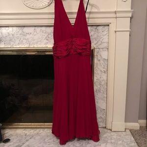 Halter dress w/ chiffon overlay Nordstrom